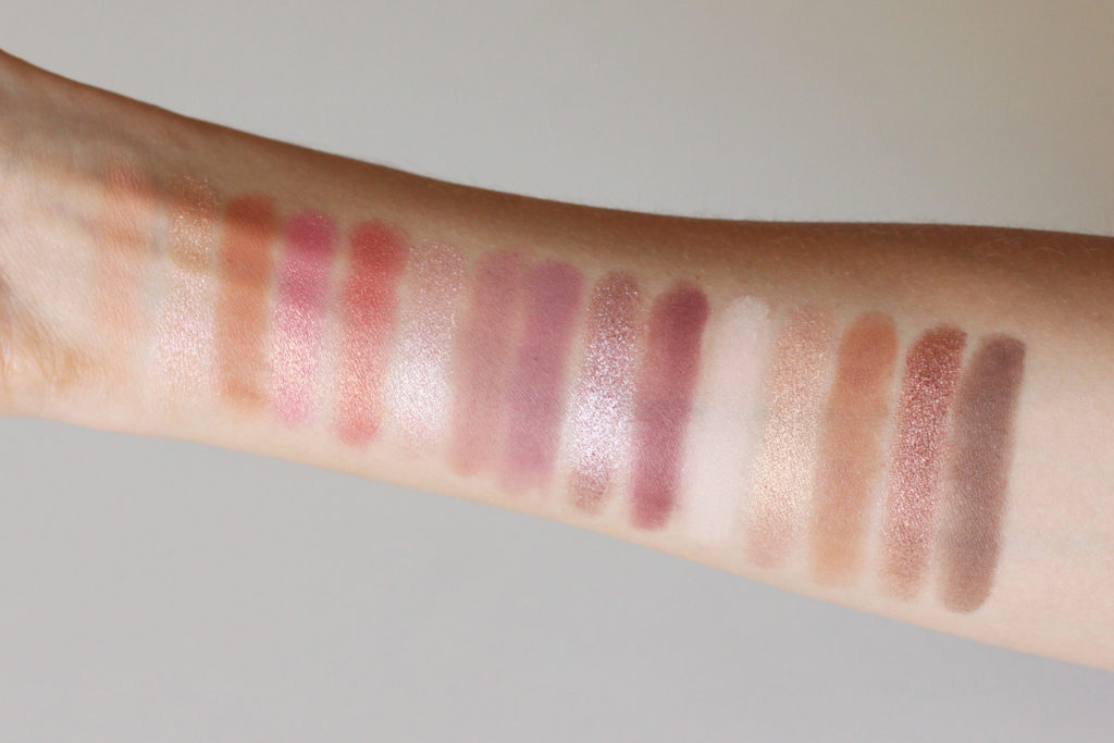 Carli Bybel Deluxe Edition BH Cosmetics - eyeshadows swatches - Hypiness