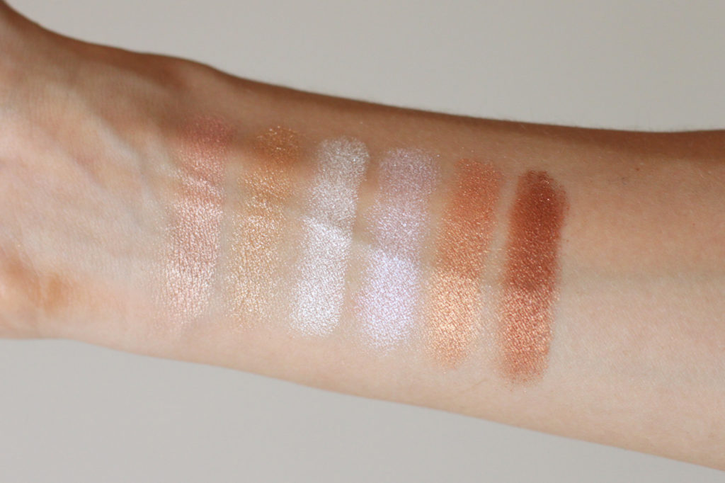 Carli Bybel Deluxe Edition BH Cosmetics - highlighters swatch - Hypiness